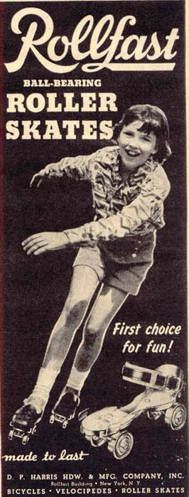 ROLLFAST BALL-BEARING ROLLER SKATES LIFE 10/27/1947 p. 134