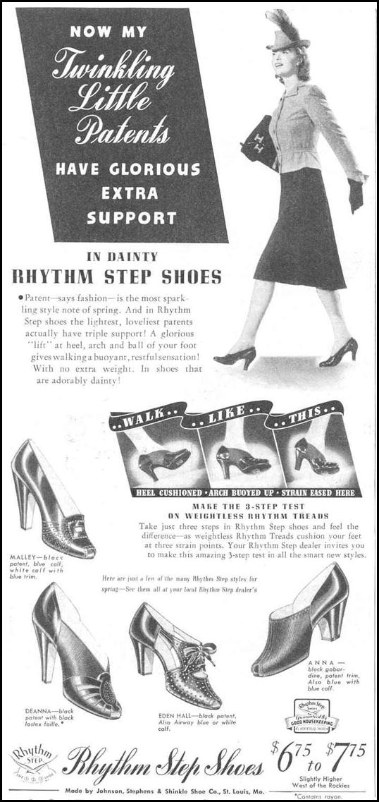 RHYTHM STEP SHOES GOOD HOUSEKEEPING 03/01/1940 p. 166