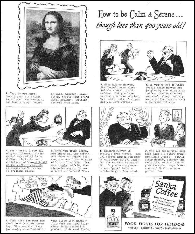 SANKA COFFEE LIFE 12/20/1943 p. 75