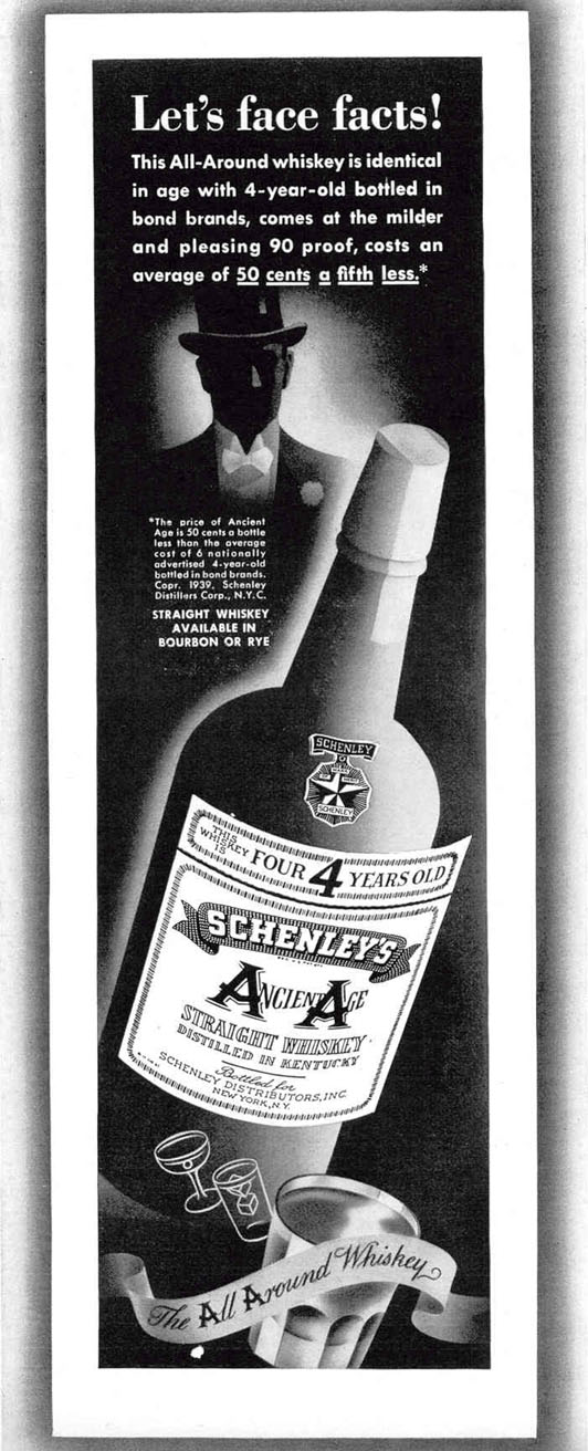 ANCIENT AGE STRAIGHT WHISKEY LIFE 02/20/1939 p. 39