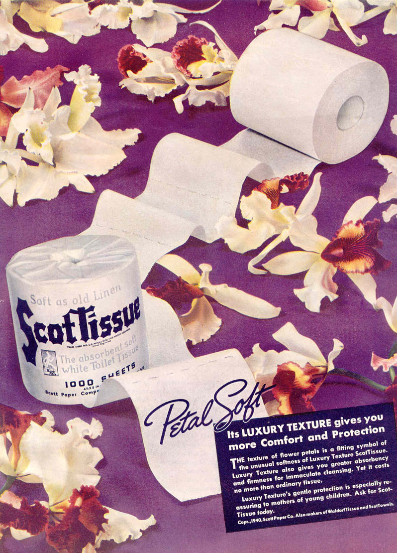SCOTTISUE BATHROOM TISSUE GOOD HOUSEKEEPING 03/01/1940 p. 77