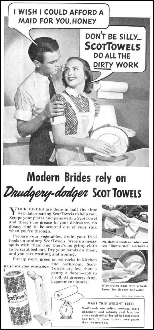SCOTTOWELS PAPER TOWELS GOOD HOUSEKEEPING 03/01/1940 p. 98