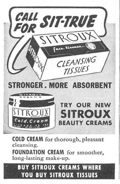 SITROUX CREAMS GOOD HOUSEKEEPING 03/01/1940 p. 189