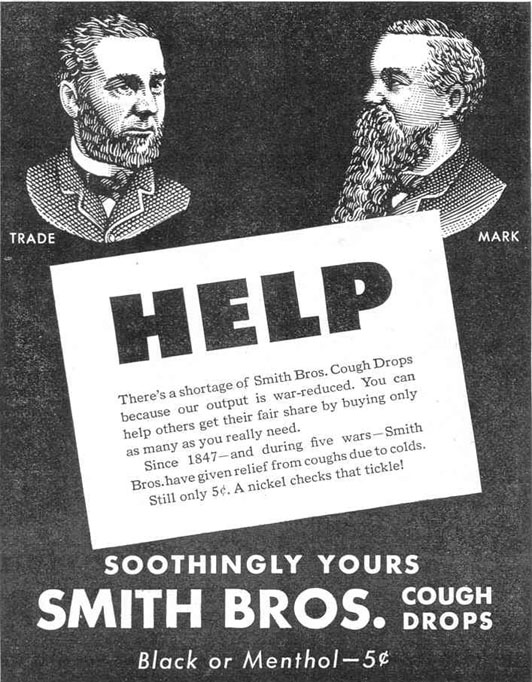 SMITH BROS. COUGH DROPS LIFE 12/20/1943 p. 66