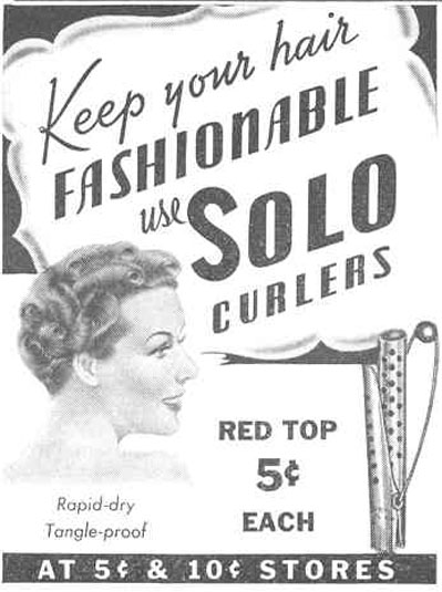 SOLO CURLERS GOOD HOUSEKEEPING 03/01/1940 p. 197