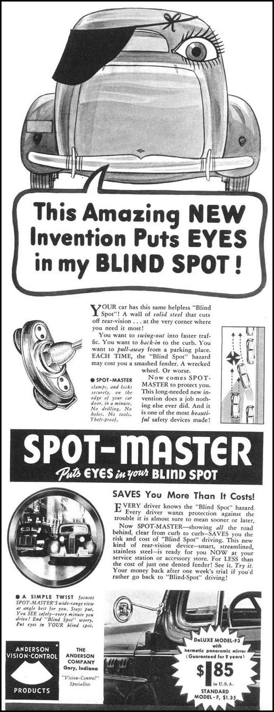 SPOT-MASTER SIDE-VIEW MIRRORS LIFE 09/06/1937 p. 63