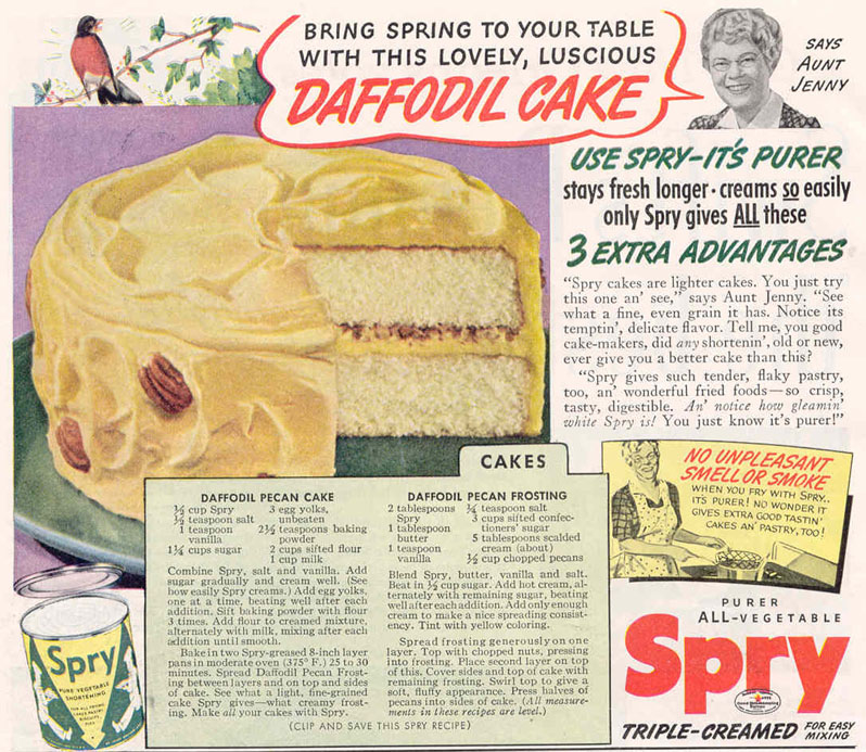 SPRY PURE VEGETABLE SHORTENING GOOD HOUSEKEEPING 03/01/1940 p. 8