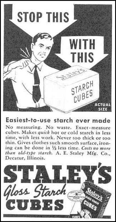 STALEY'S GLOSS STARCH CUBES GOOD HOUSEKEEPING 03/01/1940 p. 194