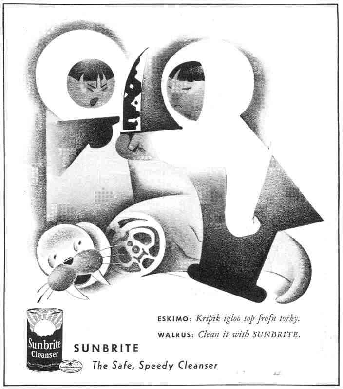 SUNBRITE CLEANSER GOOD HOUSEKEEPING 03/01/1940 p. 187