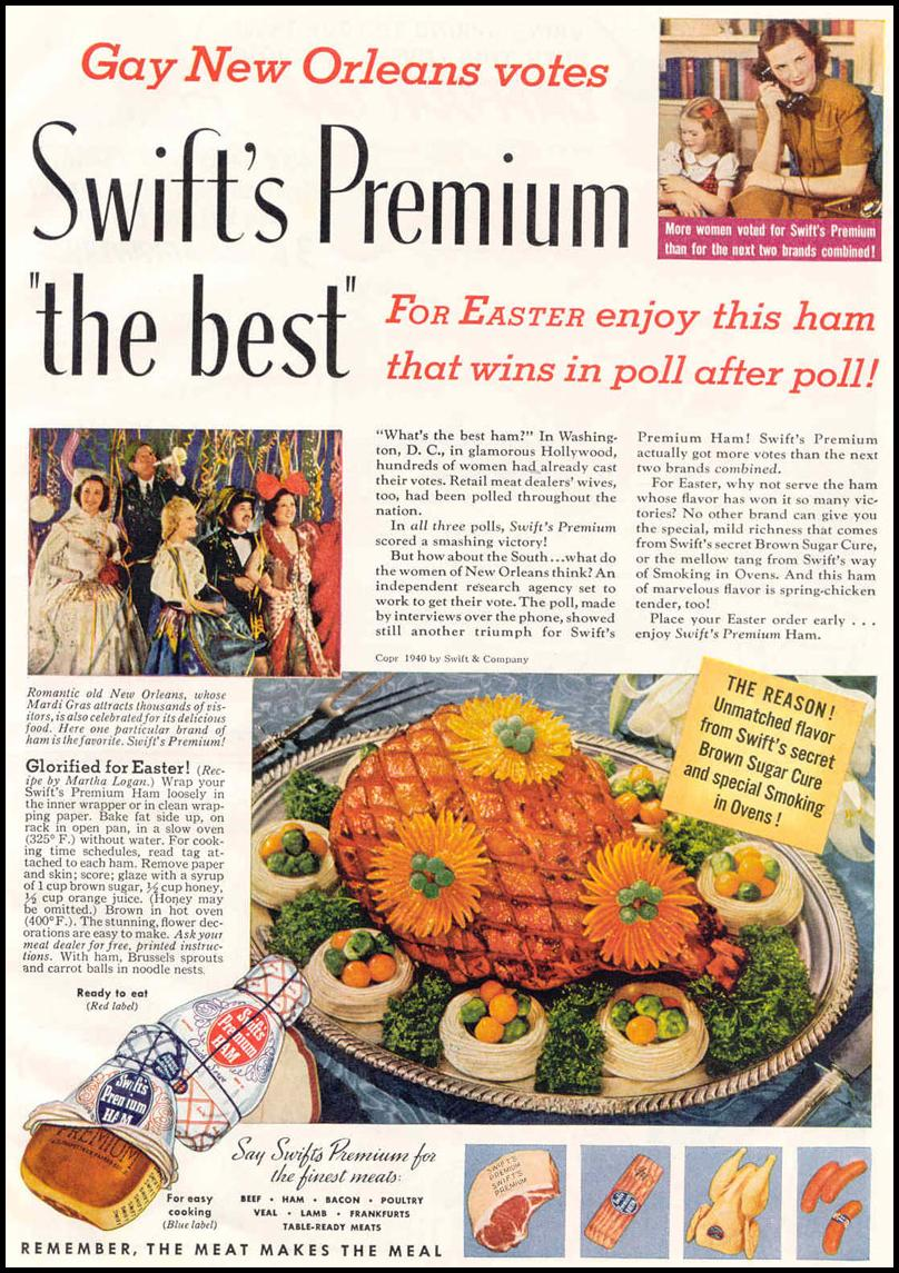 SWIFT'S PREMIUM HAM GOOD HOUSEKEEPING 03/01/1940 p. 7