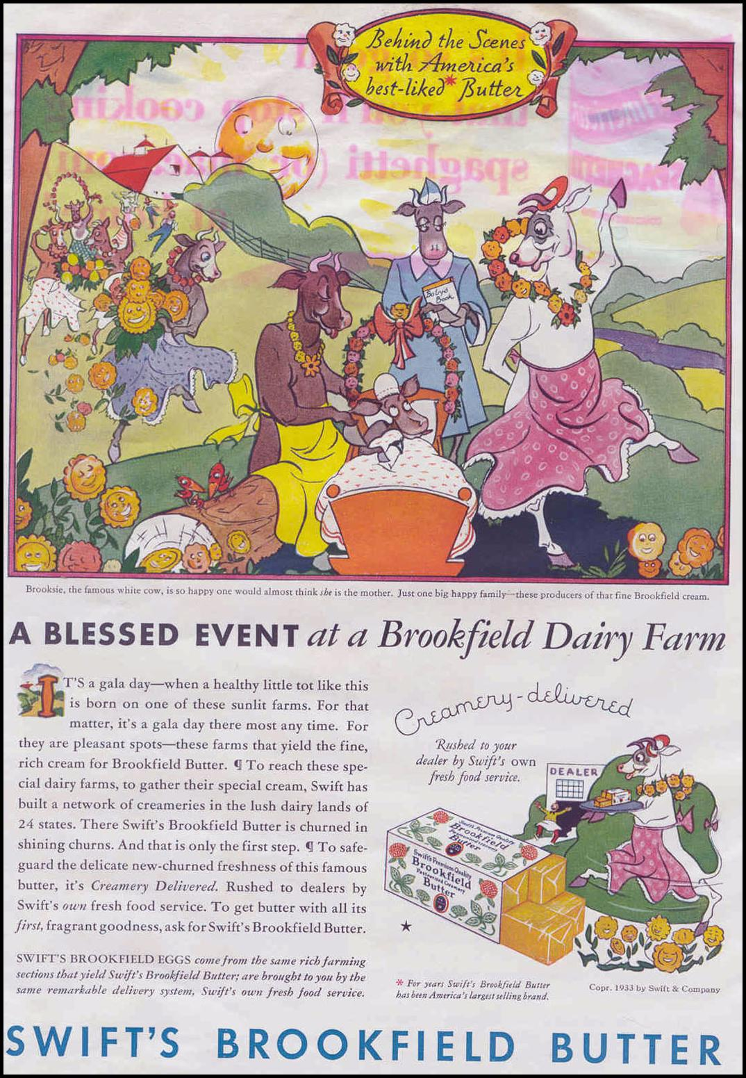 SWIFT'S BROOKFIELD BUTTER GOOD HOUSEKEEPING 06/01/1933 p. 94