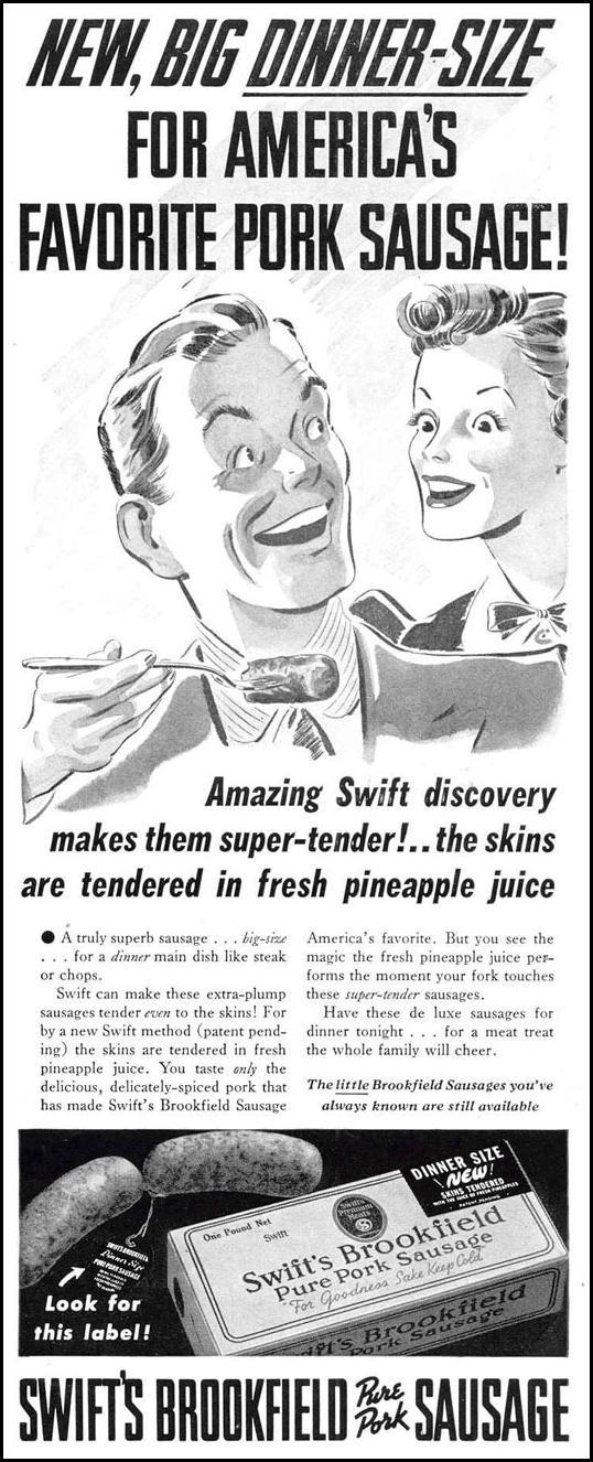 PORK SAUSAGE LIFE 03/18/1940 p. 95