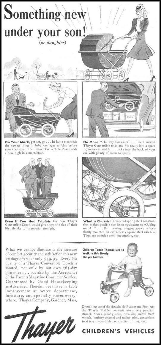 CHILDREN'S VEHICLES GOOD HOUSEKEEPING 03/01/1940 p. 213