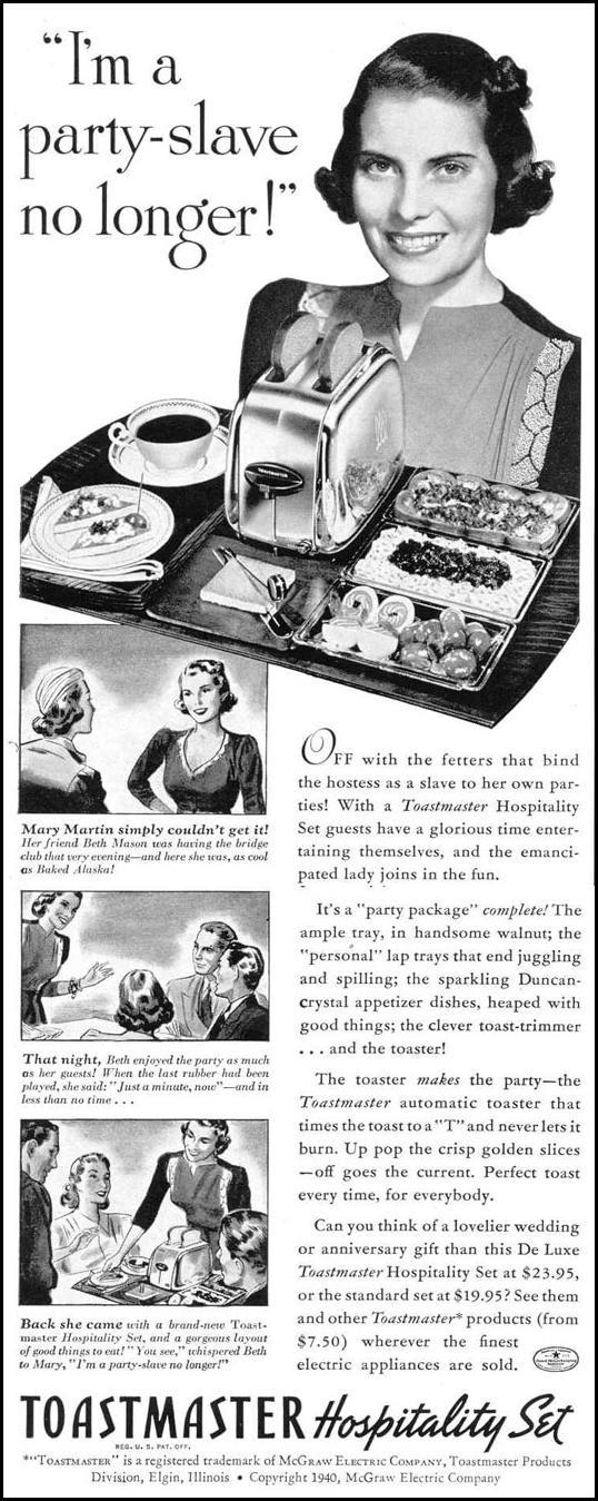 TOASTMASTER HOSPITALITY SET LIFE 03/18/1940 p. 12