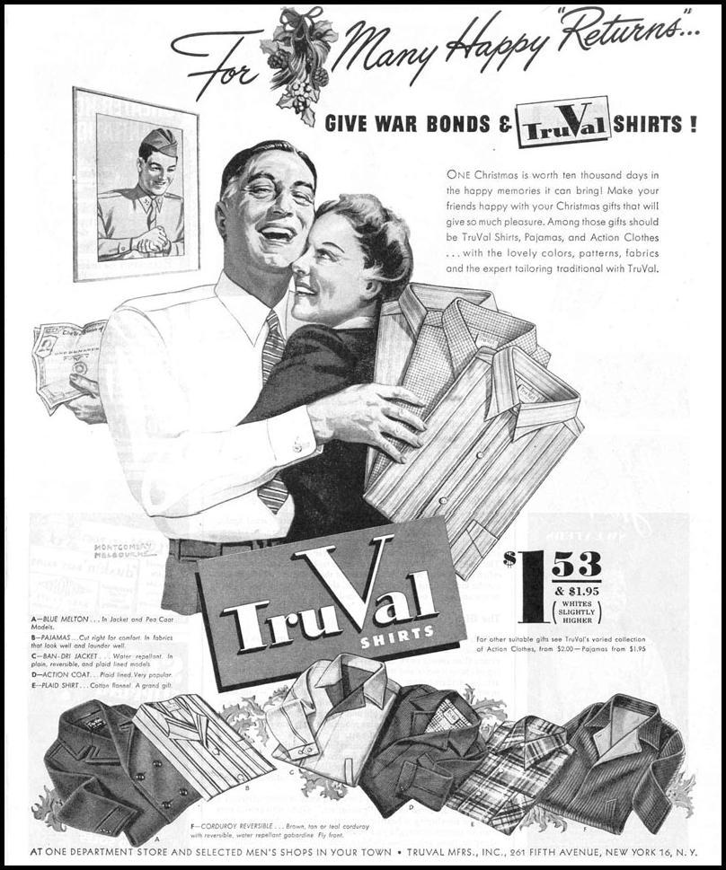 TRUVAL SHIRTS LIFE 12/20/1943 p. 99