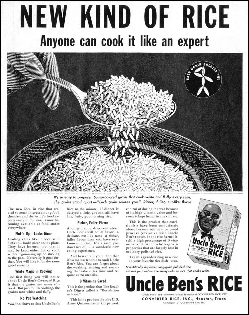 UNCLE BEN'S CONVERTED RICE LIFE 10/27/1947 p. 141