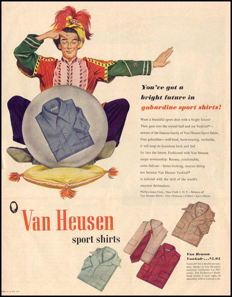 VAN HEUSEN SPORT SHIRTS LIFE 10/27/1947 p. 1