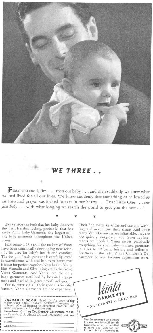 VANTA GARMENTS FOR INFANTS & CHILDREN GOOD HOUSEKEEPING 03/01/1940 p. 212