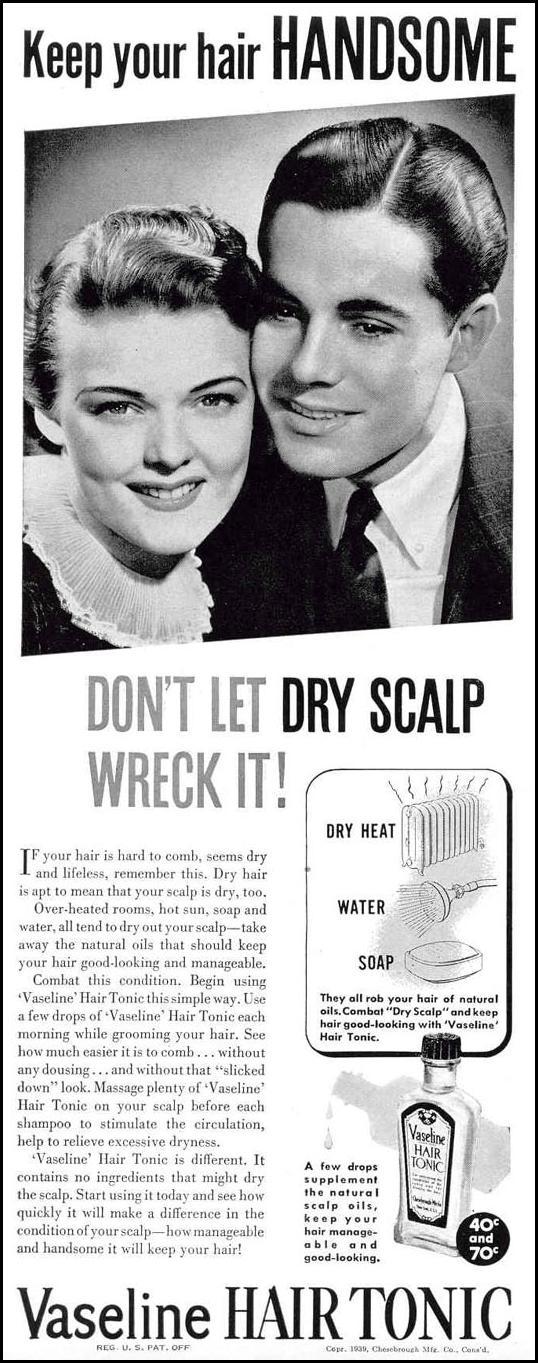 VASELINE HAIR TONIC LIFE 02/20/1939 p. 2