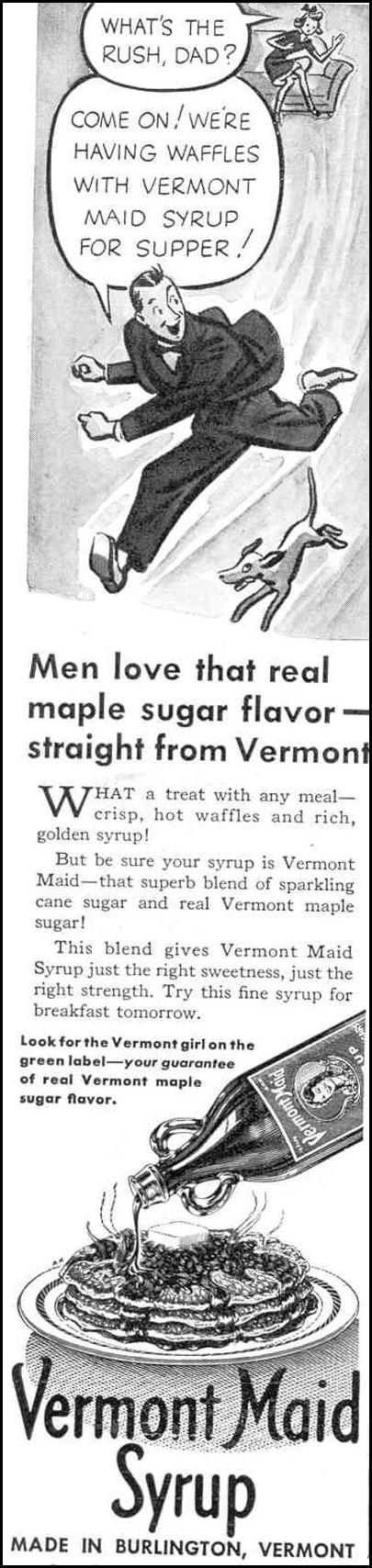 VERMONT MAID SYRUP GOOD HOUSEKEEPING 03/01/1940 p. 144