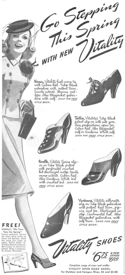 VITALITY SHOES GOOD HOUSEKEEPING 03/01/1940 p. 216