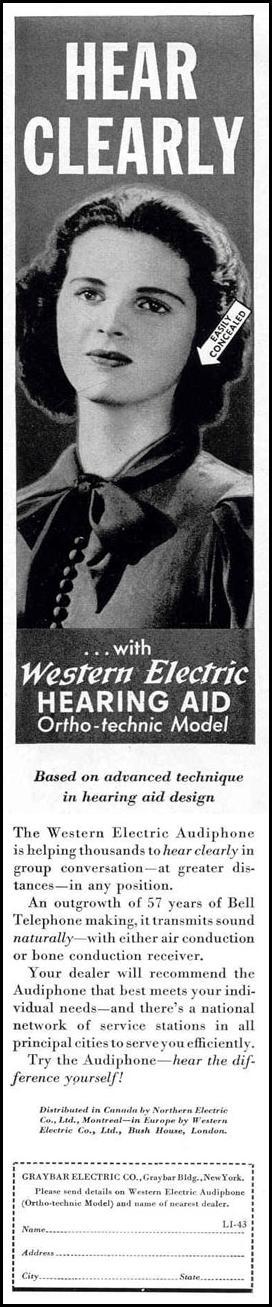 AUDIOPHONE HEARING AID LIFE 02/20/1939 p. 61