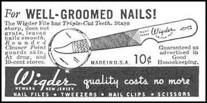 WIDGER NAIL FILES GOOD HOUSEKEEPING 03/01/1940 p. 182