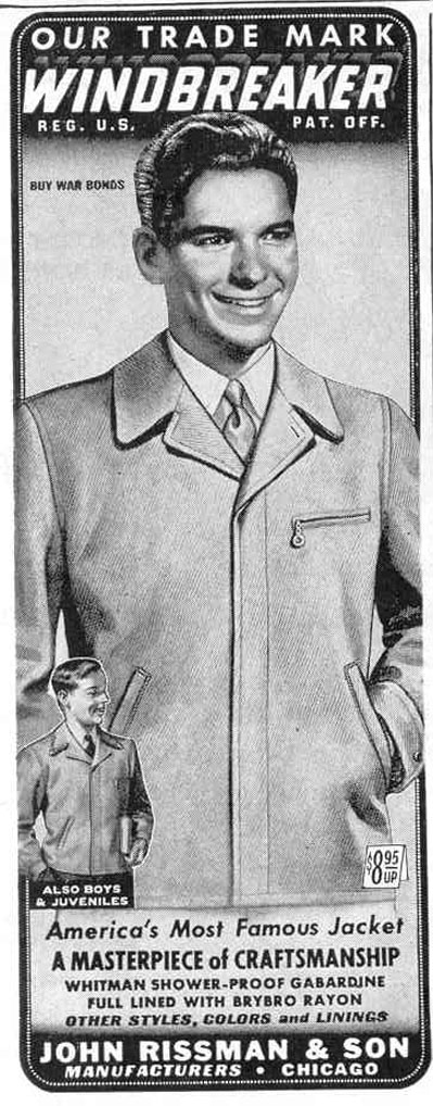 WINDBREAKER JACKET LIFE 12/20/1943 p. 114