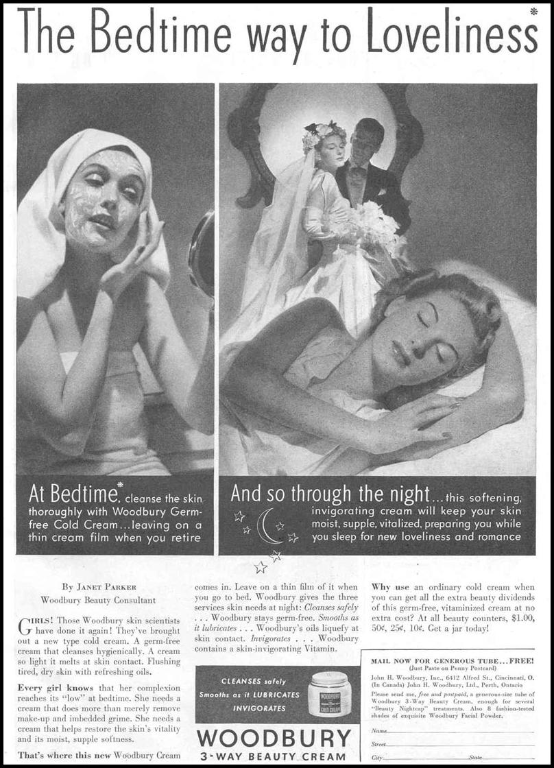 WOODBURY 3-WAY BEAUTY CREAM GOOD HOUSEKEEPING 03/01/1940 p. 71