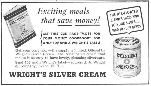 WRIGHT'S SILVER CREAM GOOD HOUSEKEEPING 03/01/1940 p. 199