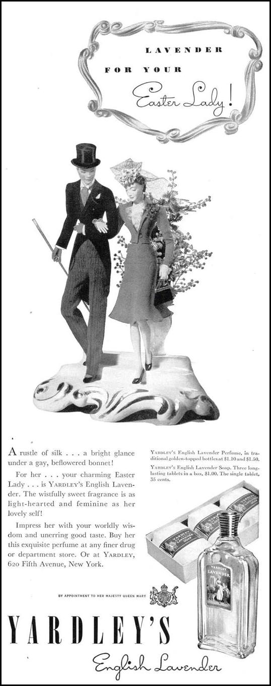 YARDLEY'S ENGLISH LAVENDER LIFE 03/18/1940 p. 19
