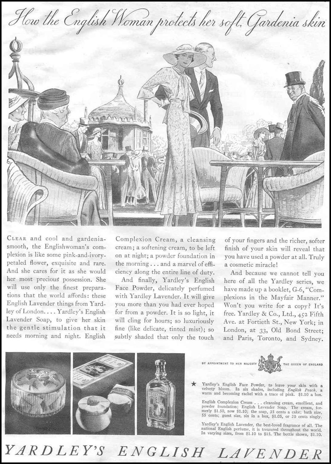 YARDLEY'S ENGLISH LAVENDER GOOD HOUSEKEEPING 06/01/1933 p. 9