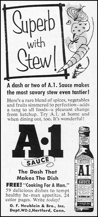 A. 1. SAUCE WOMAN'S DAY 02/01/1954 p. 169