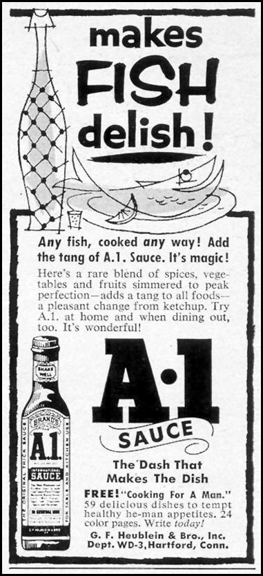 A. 1. SAUCE WOMAN'S DAY 03/01/1954 p. 148