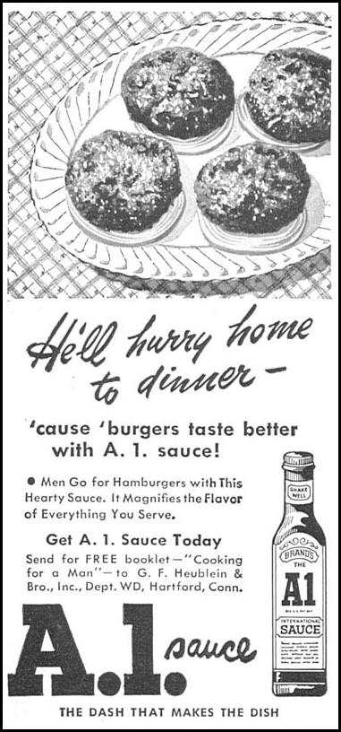 A. 1. SAUCE WOMAN'S DAY 09/01/1949 p. 116