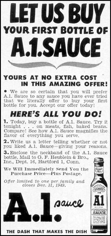 A. 1. SAUCE WOMAN'S DAY 12/01/1949 p. 122