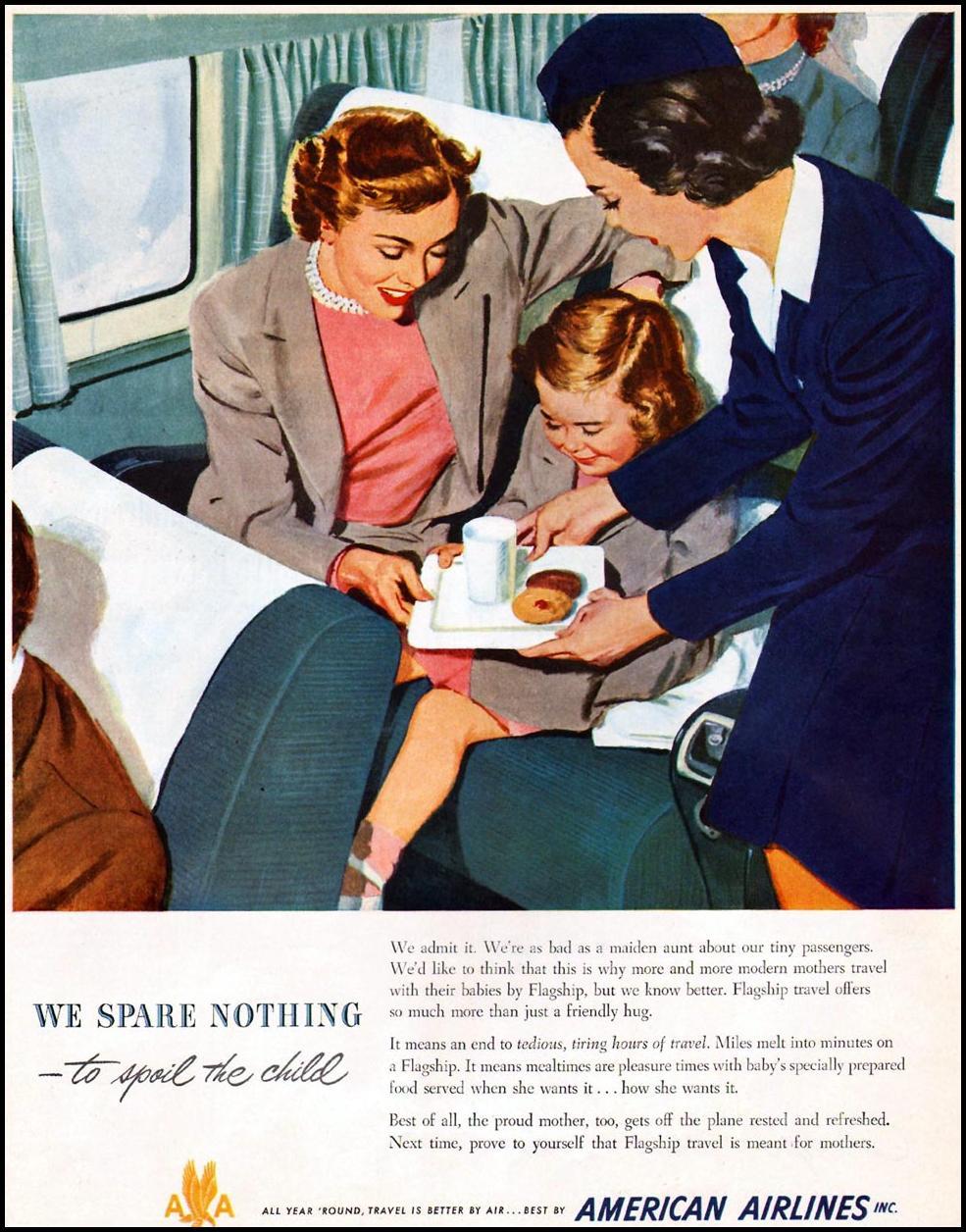 AIR TRAVEL LADIES' HOME JOURNAL 07/01/1949 p. 121