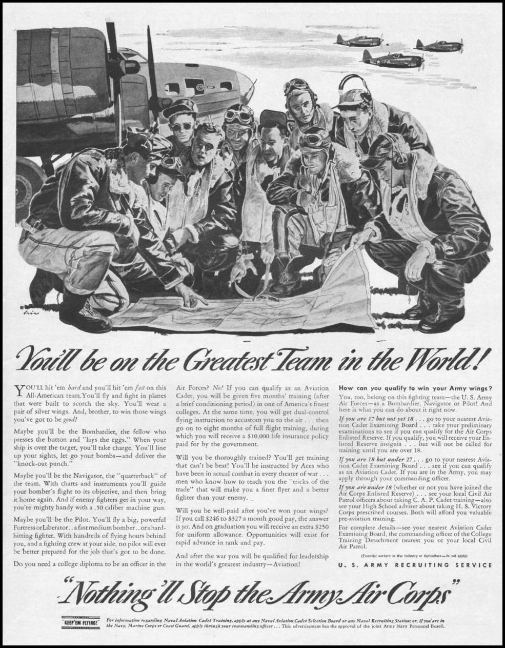 ARMY AIR CORPS LIFE 10/25/1943 p. 121
