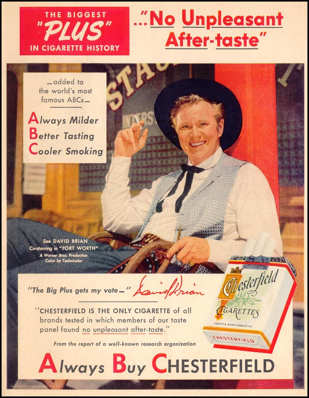 CHESTERFIELD CIGARETTES LIFE 07/30/1951 p. 27