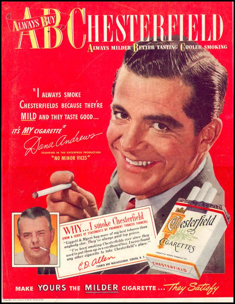 CHESTERFIELD CIGARETTES LIFE 12/27/1948 BACK COVER