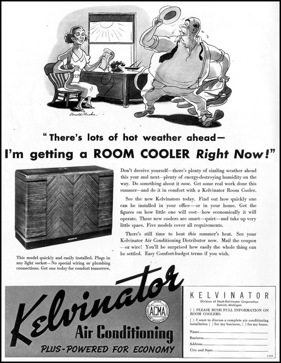 KELVINATOR ROOM COOLER LIFE 08/02/1937 p. 80