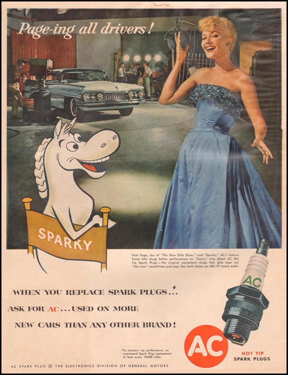 AC SPARK PLUGS LIFE 11/24/1957