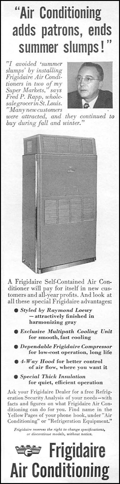 FRIGIDAIRE SELF-CONTAINED AIR CONDITIONER NEWSWEEK 06/11/1951 p. 90
