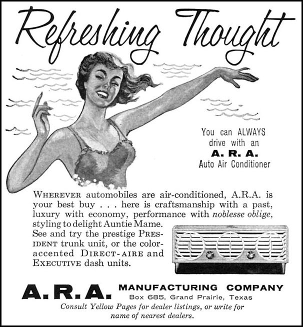 A. R. A. AUTO AIR CONDITIONER SPORTS ILLUSTRATED 04/27/1959 p. 82