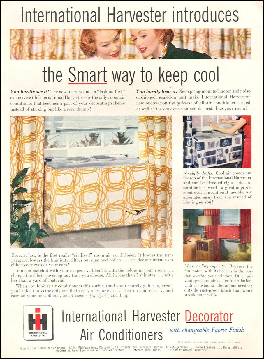 DECORATOR AIR CONDITIONERS WITH CHANGEABLE FABRIC FINISH TIME 06/08/1953 p. 86