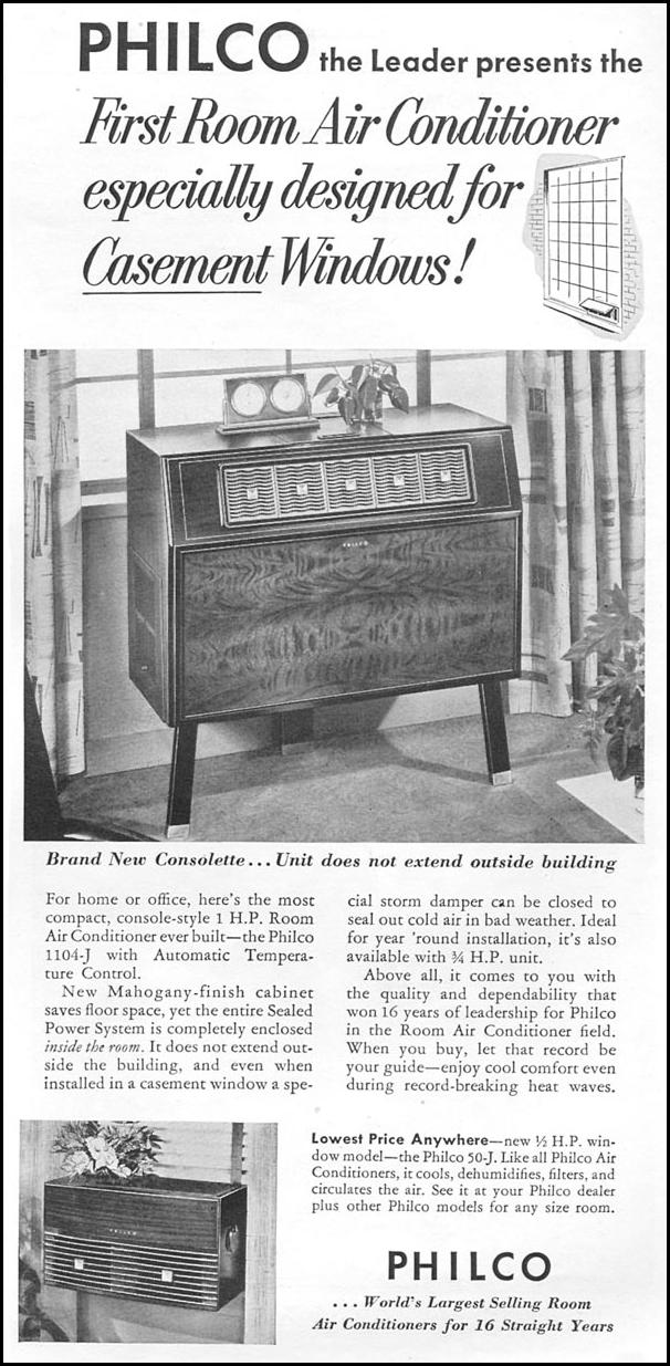 PHILCO ROOM AIR CONDITIONERS TIME 06/08/1953 p. 93