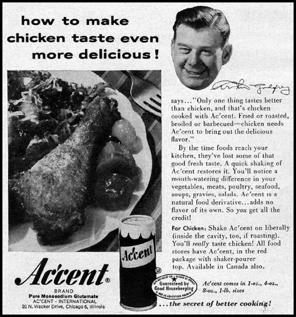 ACCENT MONOSODIUM GLUTAMATE GOOD HOUSEKEEPING 05/01/1957 p. 242