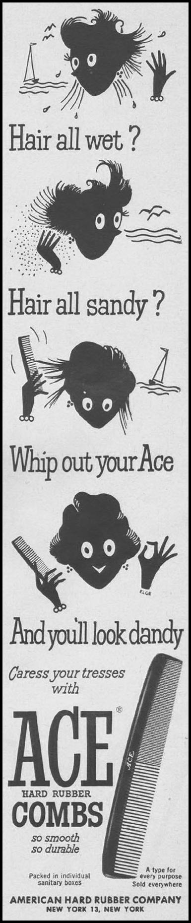 ACE HARD RUBBER COMBS LIFE 07/02/1951 p. 59