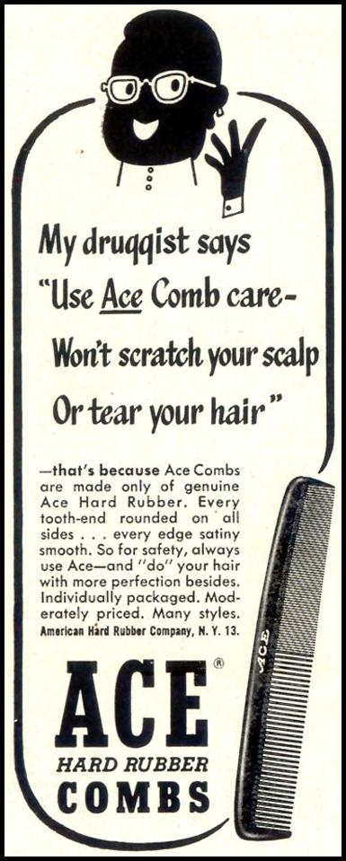 ACE HARD RUBBER COMBS LIFE 10/19/1953 p. 52