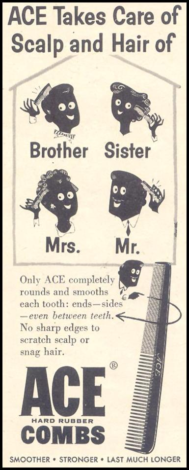 ACE HARD RUBBER COMBS LIFE 11/11/1957 p. 130